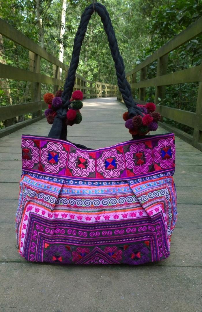 pochette de soirée pas cher, joli sac en lilas et bleu, mode femme originale