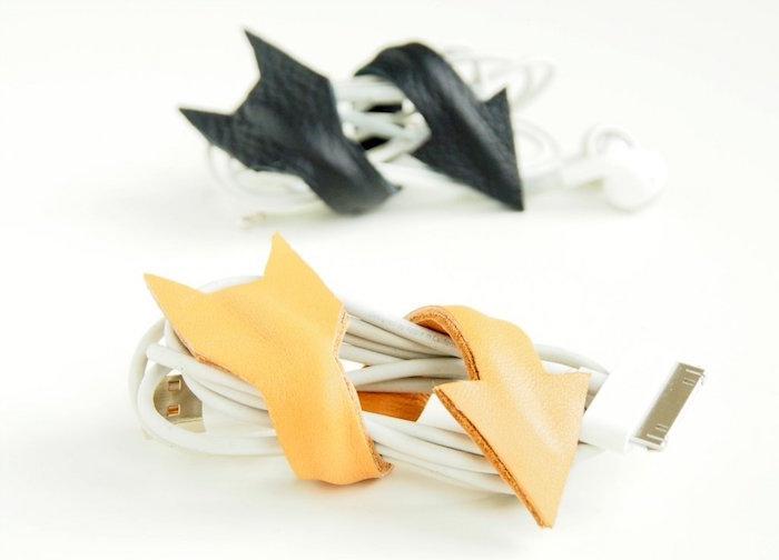 fabrication porte clés porte cable facile diy en cuir