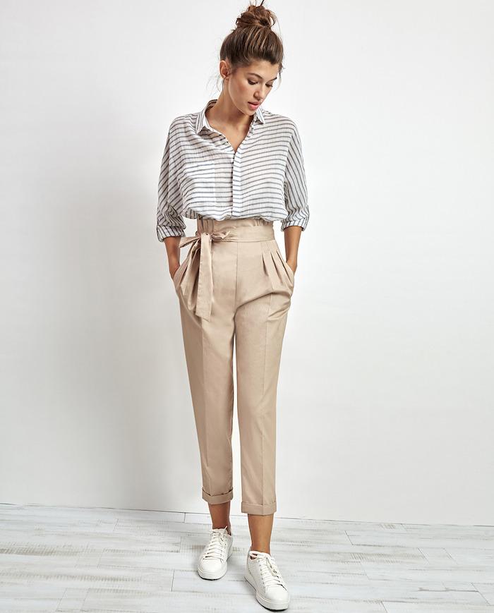 que mettre avec un pantalon beige les tendances mode de l automne hiver 2017 ne pas rater. Black Bedroom Furniture Sets. Home Design Ideas