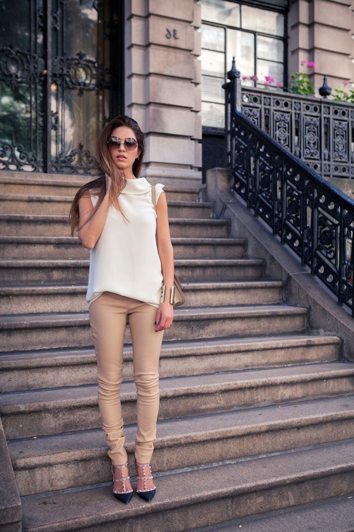 1001   tenues inspirantes pour savoir que mettre avec un pantalon beige