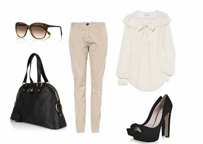 1001 tenues inspirantes pour savoir que mettre avec un pantalon beige - Assortir les couleurs vetements ...