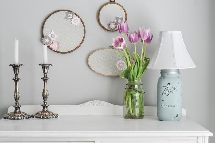1001 id es de bricolage recyclage d 39 une lampe bocal. Black Bedroom Furniture Sets. Home Design Ideas