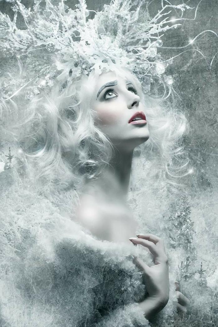 reine des neige, cotume festif et déguisement Halloween blac de princesse d'hiver