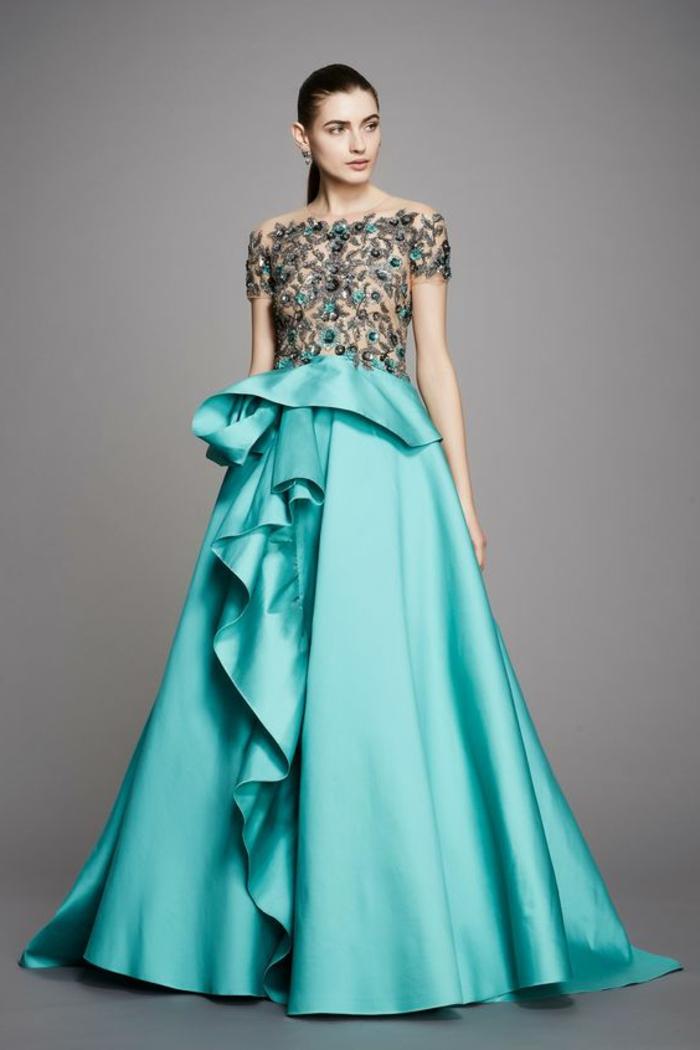 robe ceremonie femme bleu robe classique site blog photo. Black Bedroom Furniture Sets. Home Design Ideas