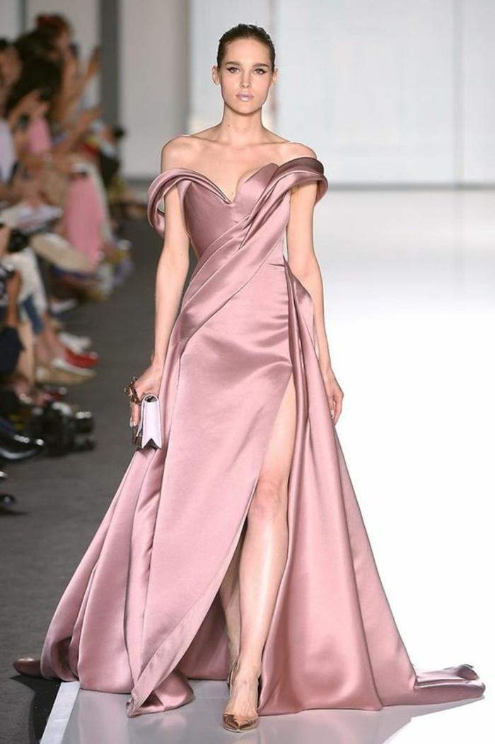 Robe ceremonie femme rose pale