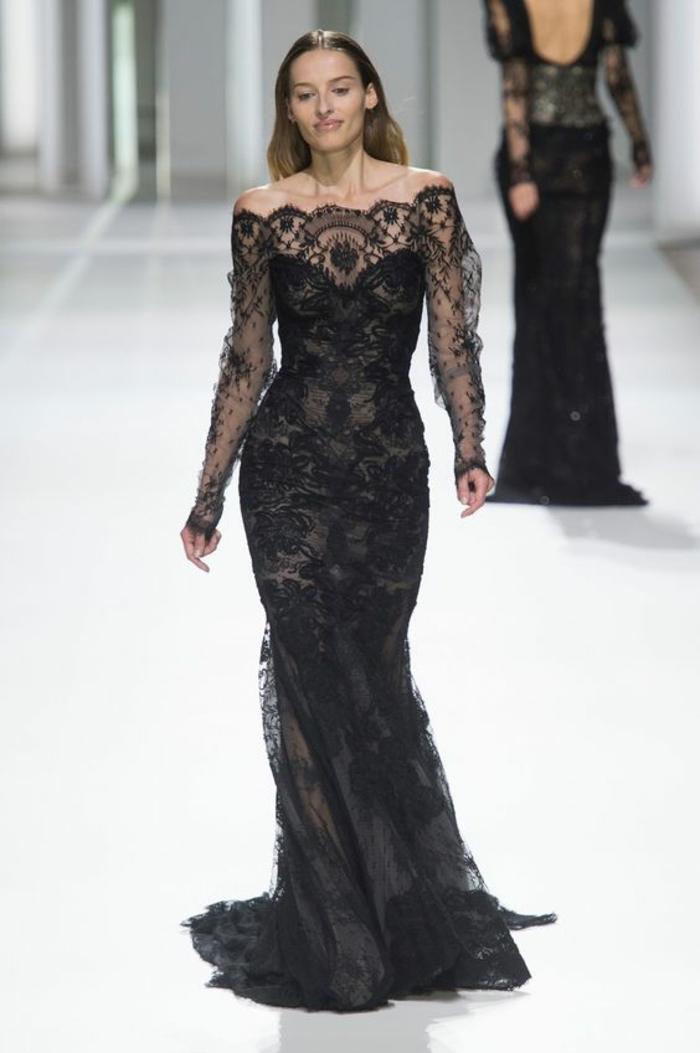 robe longue organza et dentelle robe ceremonie femme robe nouvel an robe de fete