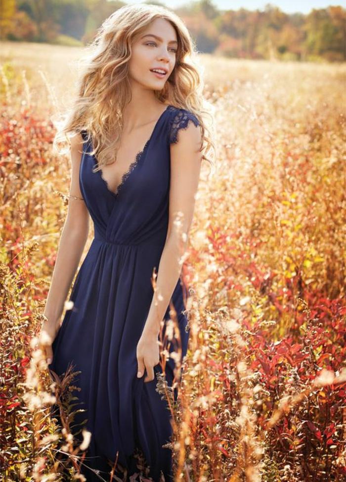 robe de cérémonie femme robe bleu marine robe de soirée longue