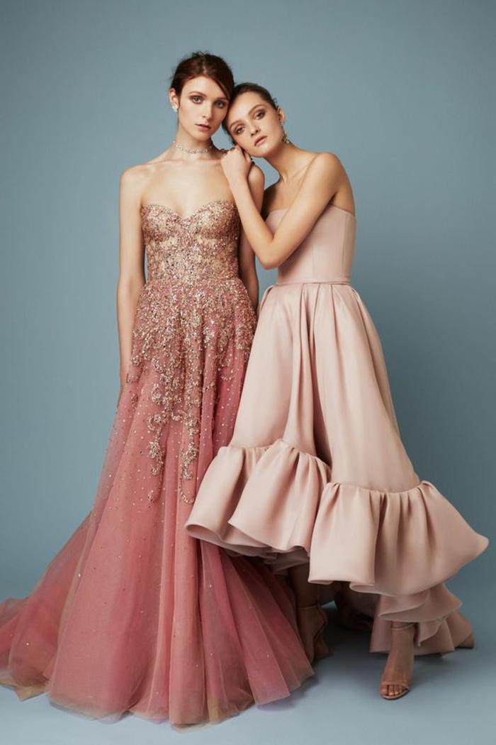 robe de cérémonie femme en couleur corail suggestion mariée et dame d honneur