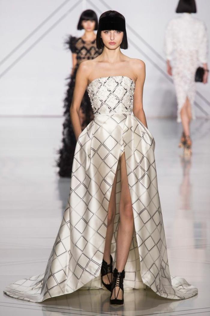 1001 id es pour une robe de c r monie femme les mod les for Robes noires et or pour mariage