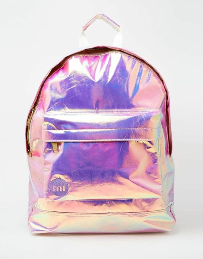 sac à dos cuir femme aux reflets irisés a porter chaque jour style les années disco
