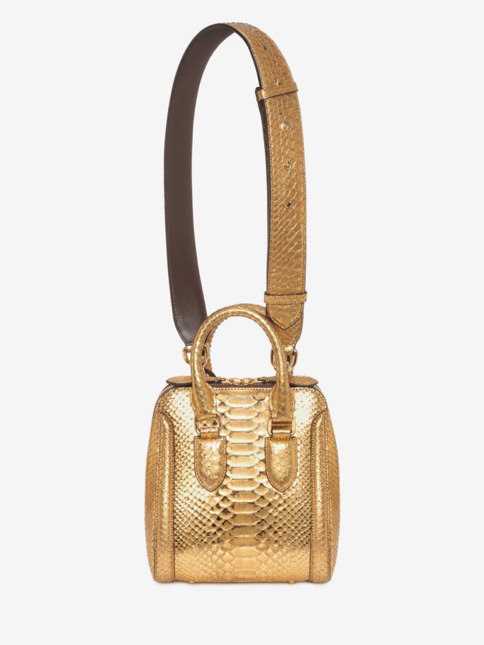 sac a dos vintage Alexander Mc Queen tout doré petite taille finition brillante