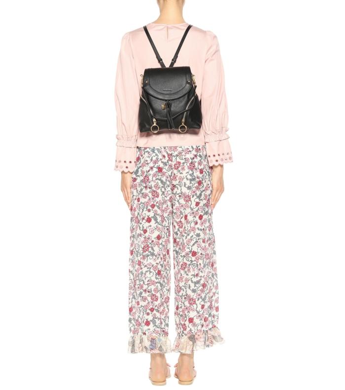 sac à dos femme tendance en noir taille micro look de ville minimaliste avec des bandes délicates pour les épaules
