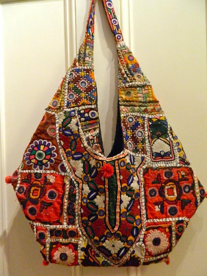 sac à bandoulière femme, sac style patchwork en couleurs vives