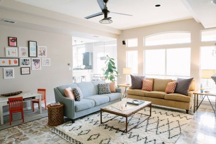 1001 id es de d coration pour votre salon cosy et beau ForSalon Industriel Cosy