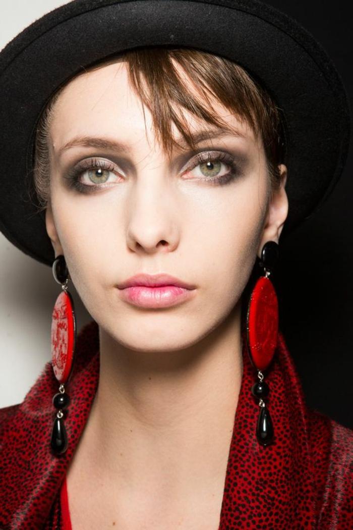 maquillage yeux verts défilés de mode a Paris Milan Rome look actuel automne 2017