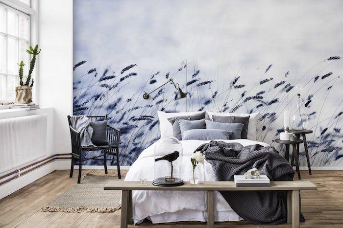 Papier Peint Chambre U2013 Un Guide Avec Plus De 80 Idées Pour Choisir Un  Revêtement Mural Tendance ...