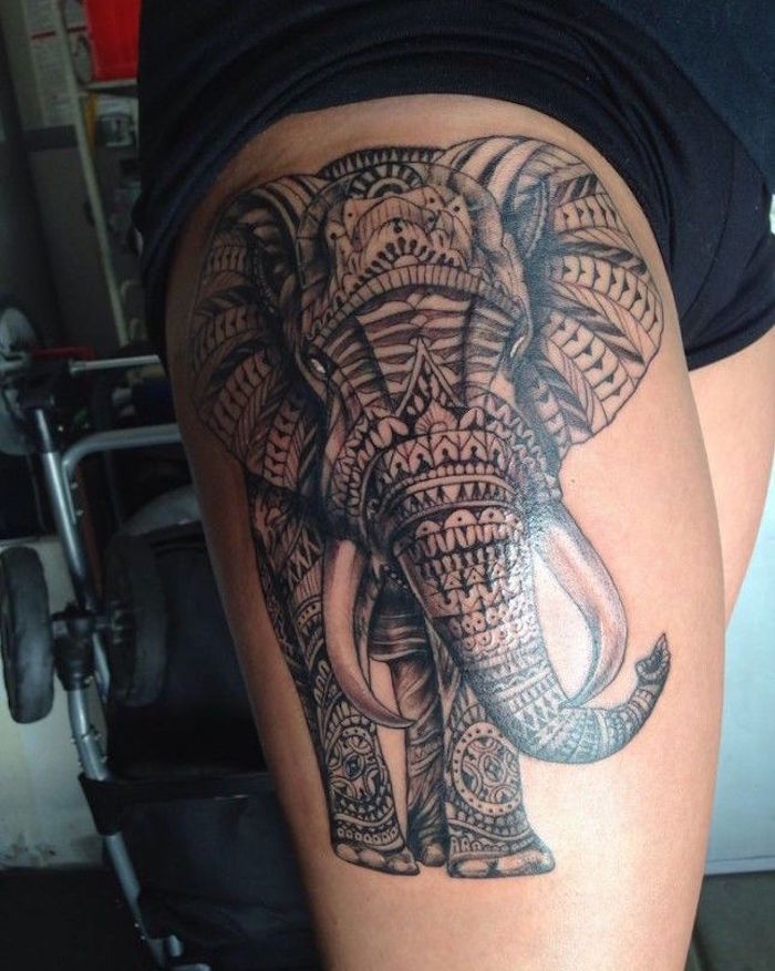 1001 Idees Tattoo Cuisse 48 Tatouages De Caractere