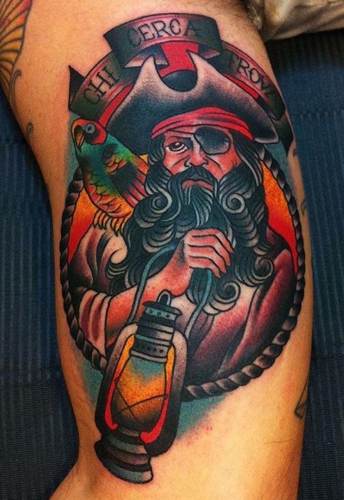 tatouage marin tete de pirates old school