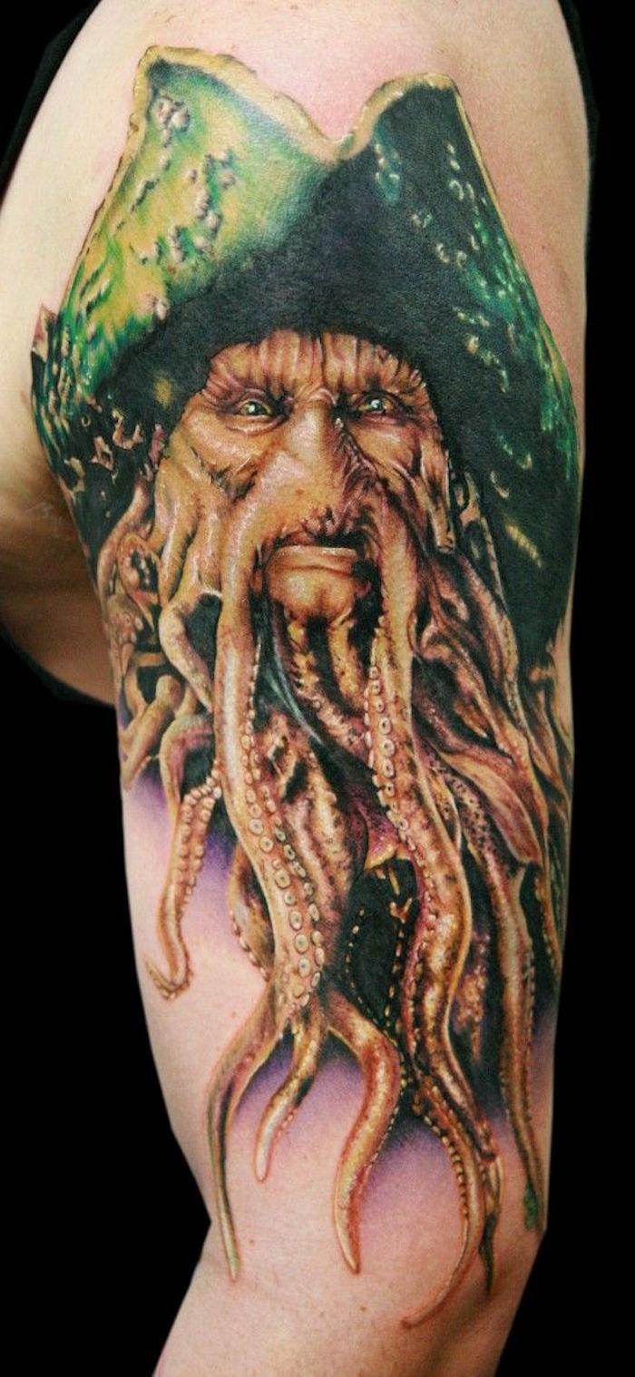 tatouage pirate des caraibes pirates tattoo devy jones
