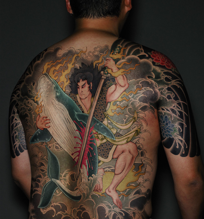 tatouage samourai tattoo irezumi japonais dans le dos
