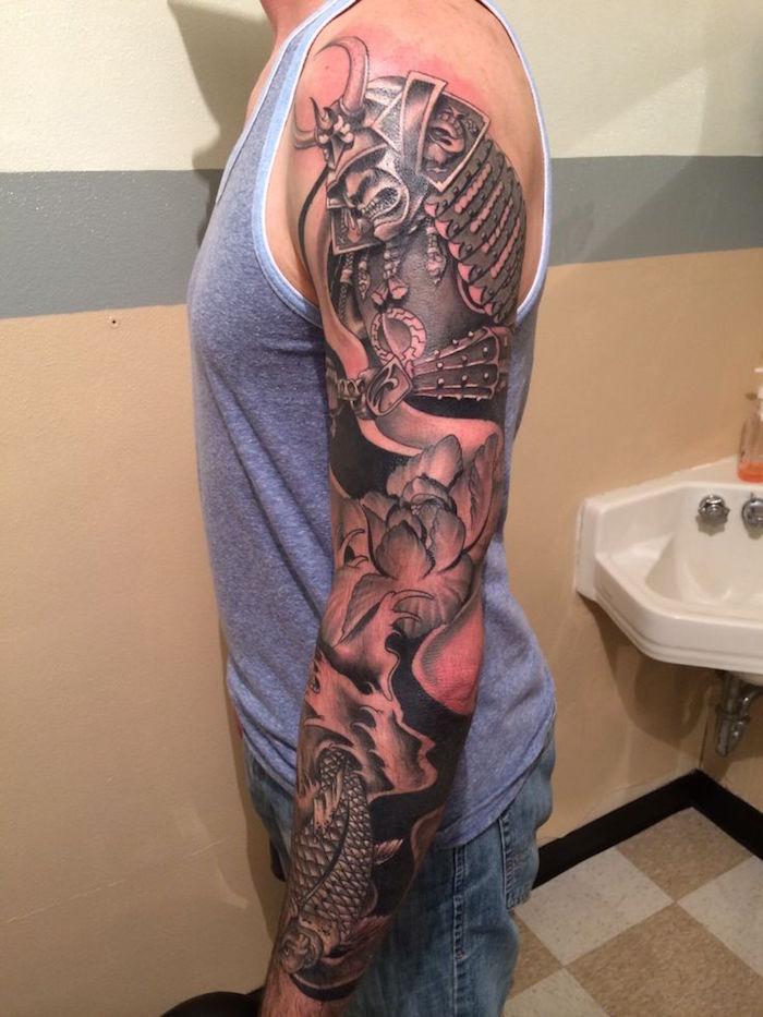 tatouage symboles japonais tattoo démon japon samourai guerrier