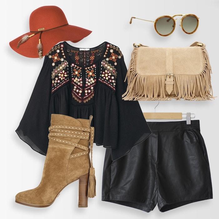 style vestimentaire femme, comment assortir ses pièces capeline rouge sac à main et bottines beige à talons