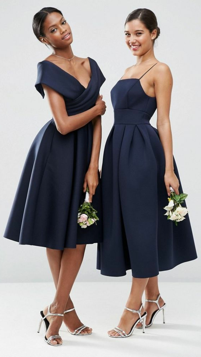 robe soirée robe bleu marine robe de soirée longue dames d honneur à un mariage