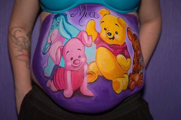 dessin souvenir photo sur femme enceinte
