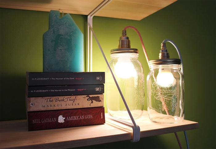 tuto facile pour monter une lampe a poser de type baladeuse à l'aide d'un kit d'adaptateur et d'un bocal le parfait