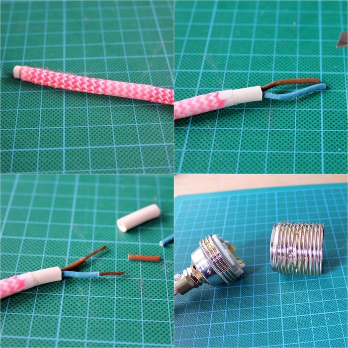 tuto facile de montage et de branchement d une lampe a poser diy de style baladeuse réalisee avec un bocal recyclé