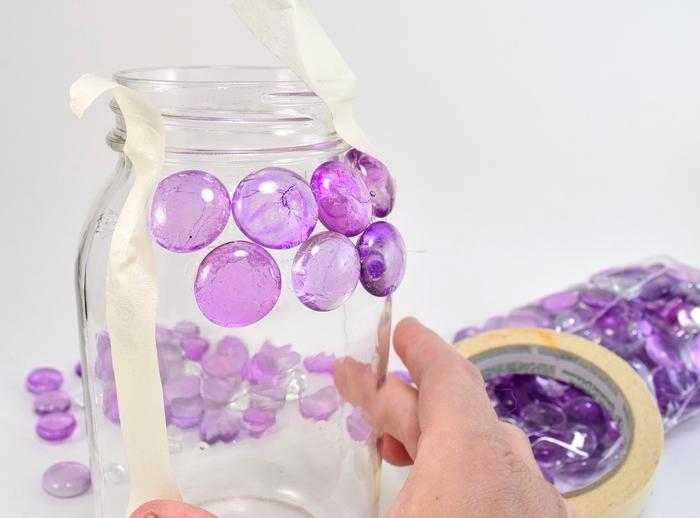 comment fabriquer une lampe en bocal aux pierres gemmes qui donne de jolies lumières colorées