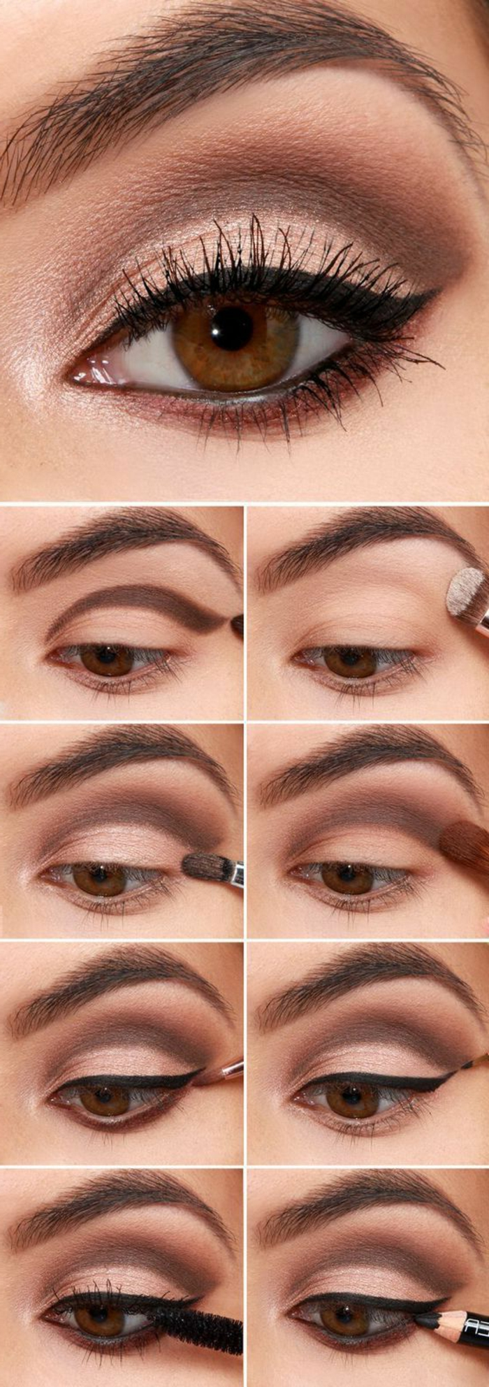 Maquillage nouvel an yeux marron - Tuto maquillage yeux ...