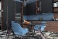 Cuisine bleu canard, un espace convivial et raffiné