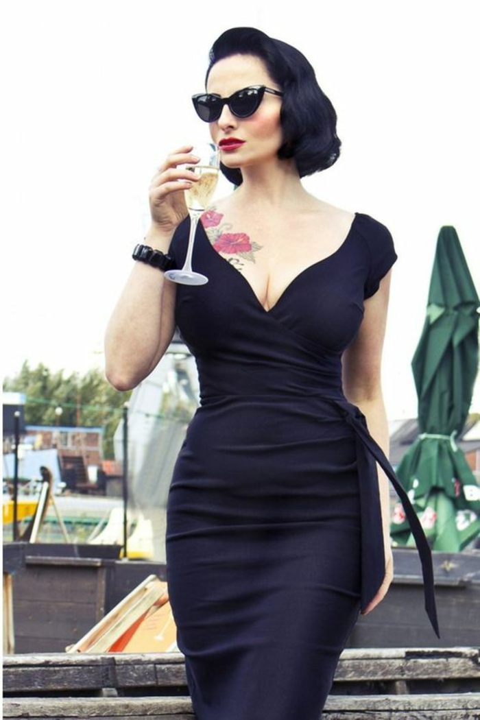 robe de soirée longue robe longue noire pour les sorties le soir avec décolleté plongeant