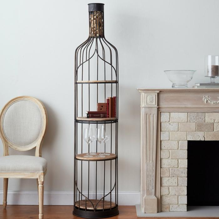 Jolie décoration avec du liège bricolage bouchon de liège belle maison bouteille de vin de fer
