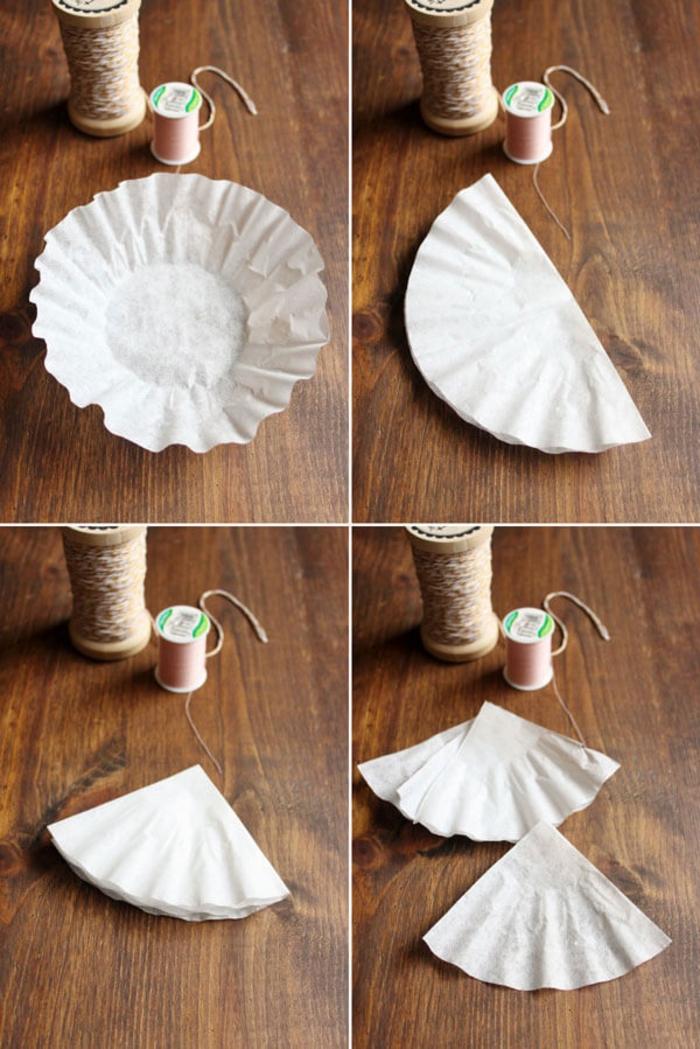 idées créatives avec des filtres à café recyclés, des sachets de thé faits-maison à cordon coeur