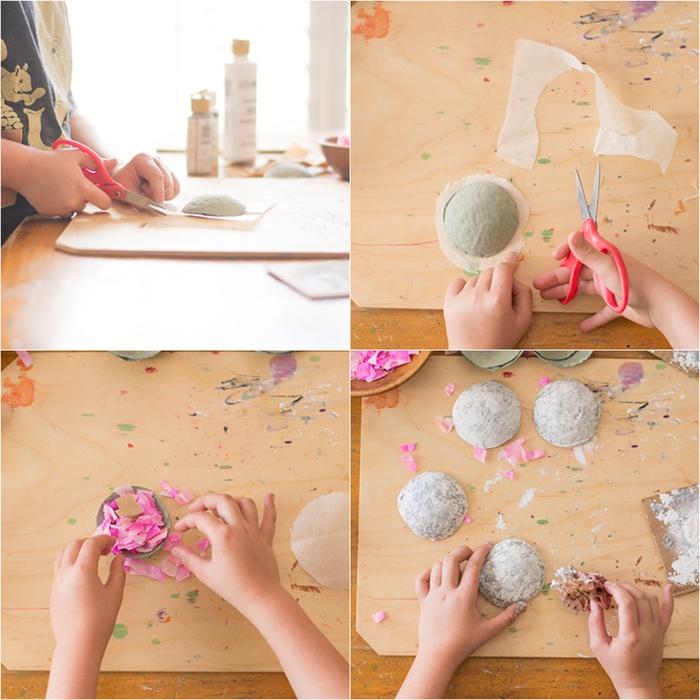 idée bricolage originale pour une carte surprise de la saint-valentin à confettis à fabriquer avec vos enfants, un cadeau personnalisé à faire soi-même