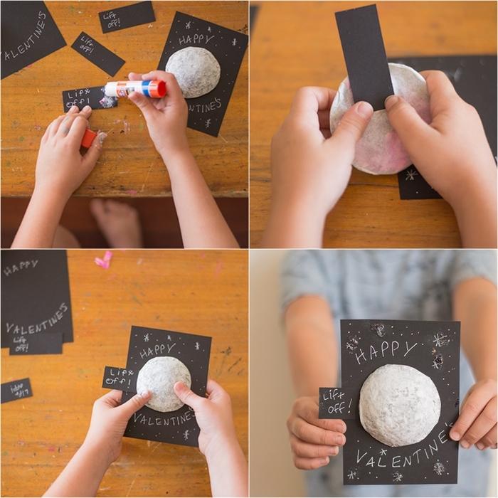 une idée bricolage facile pour la saint-valentin, une carte surprise diy à fabriquer avec les enfants