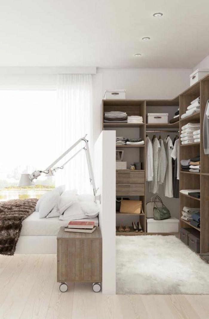 1001 id es pour la d co de la chambre de 9m2 comment for Place du lit dans une chambre