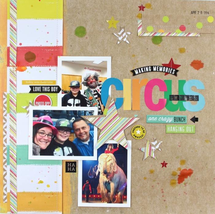 carte postale personnalisée, comment faire une décoration avec photo en famille, scrapbooking sur papier recyclé avec lettres multicolore
