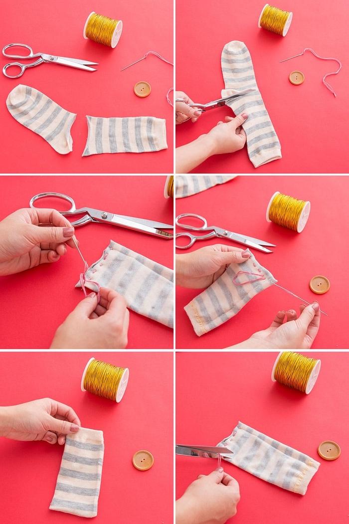 idées créatives avec des chaussettes, comment coudre facilement un étui à lunettes