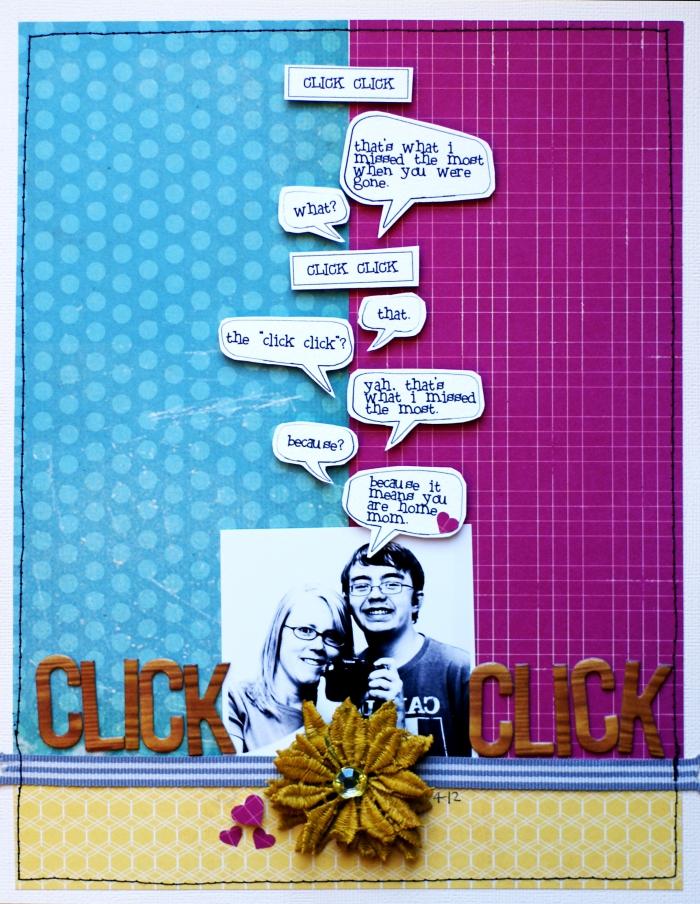 cadeau fait main pour son amoureux, idée scrapbooking avec papier coloré et mots corts inspirants
