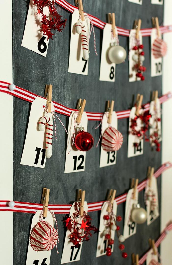 calendrier de l'avant à fabriquer, un calendrier festif avec des enveloppes en papier