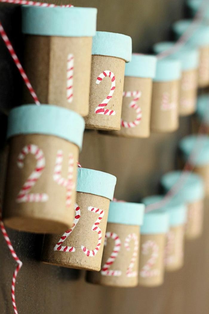 calendrier de l'avant à fabriquer, des boites en carton conteneurs de cadeaux