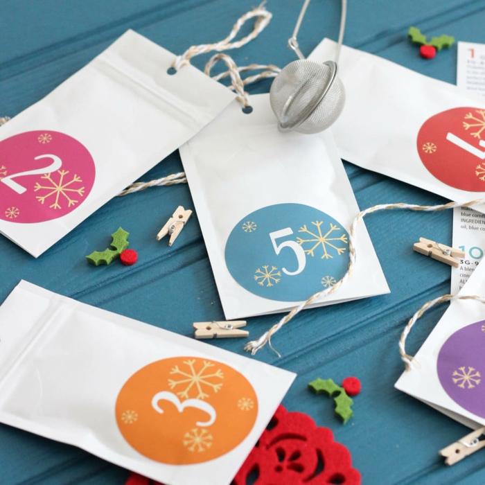 calendrier de l'avent en papier, idées de noel handcraft, jolis calendiers à fabriquer avec les enfants