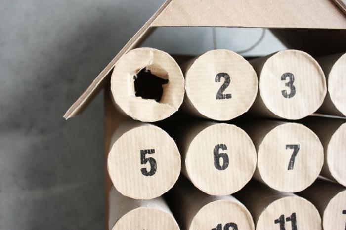 calendrier de l'avent en rouleaux de papier toilette, crafts originaux