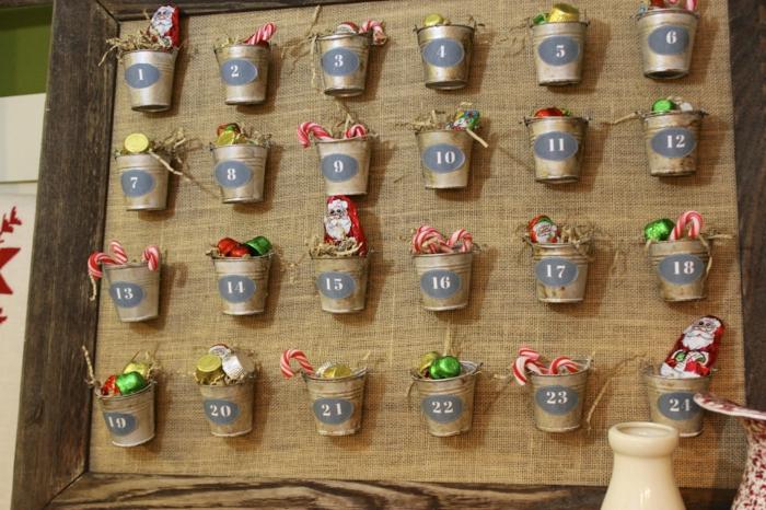 calendriers de l'avent, créations uniques avec du jute et des sceaux