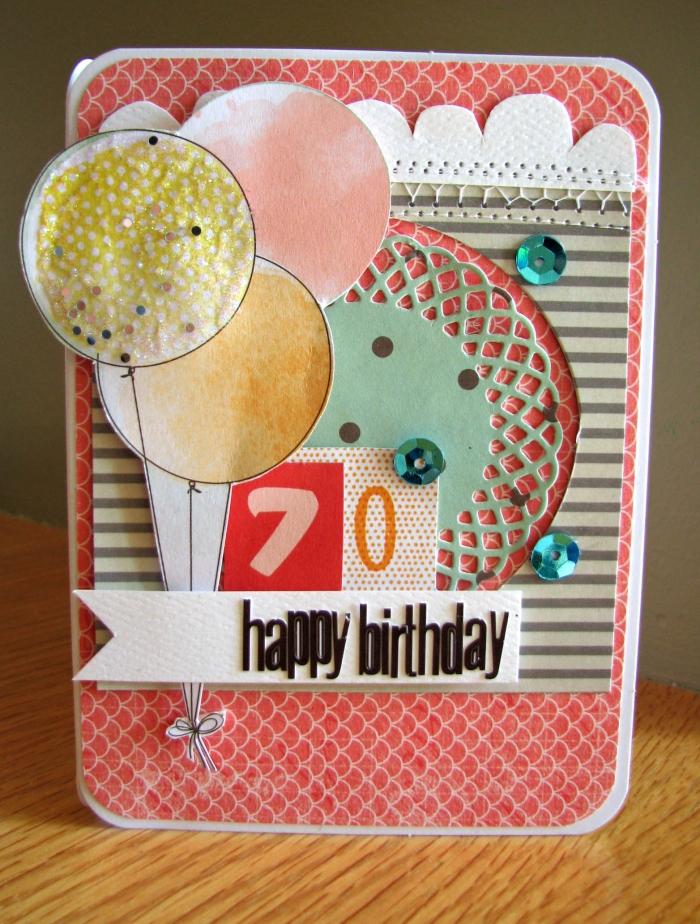 idée cadeau, comment faire une carte diy, carte scrapbooking en carton blanc avec papier coloré et stickers