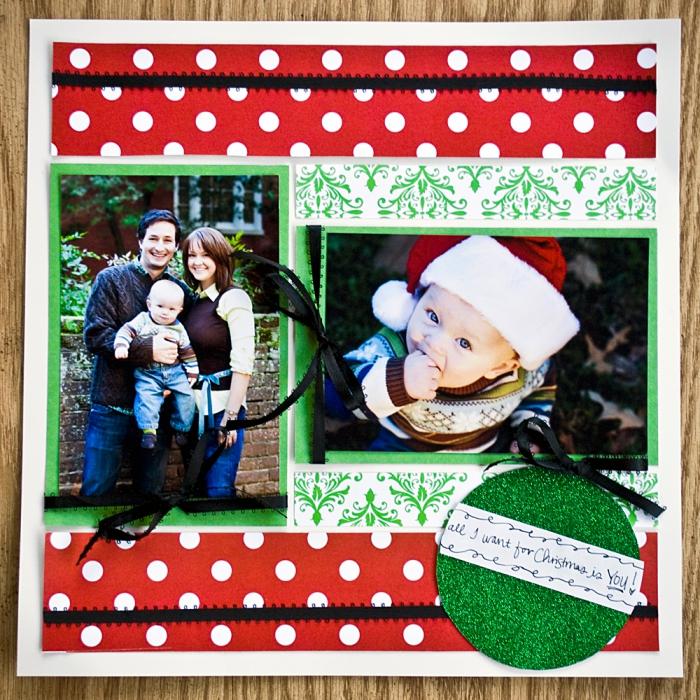idée cadeau, fabriquer une carte de Noel personnalisée au papier blanc avec ruban décoratif en rouge et vert