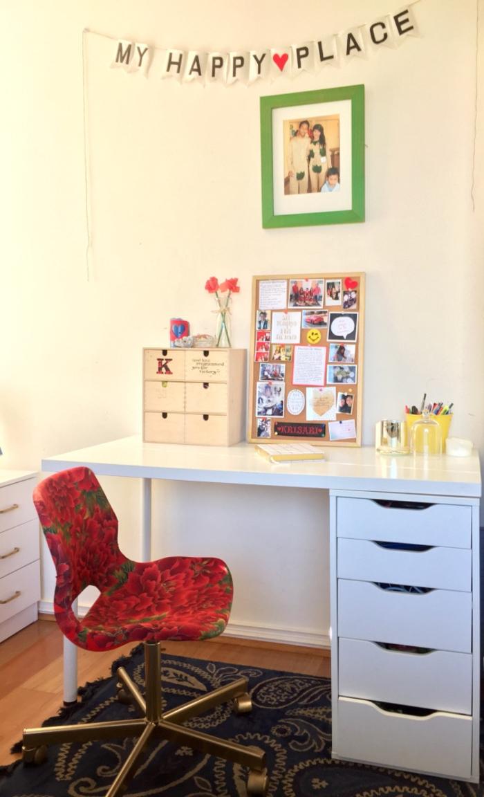 relooker ses chaises de bureau ternes avec un revêtement de tissu imprimé floral